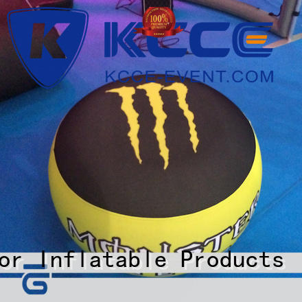 Inflatable ottoman for outdoor event with PVC