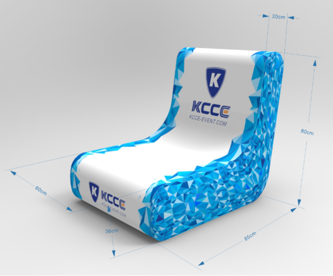 KCCE blow up lounge chair factory for events