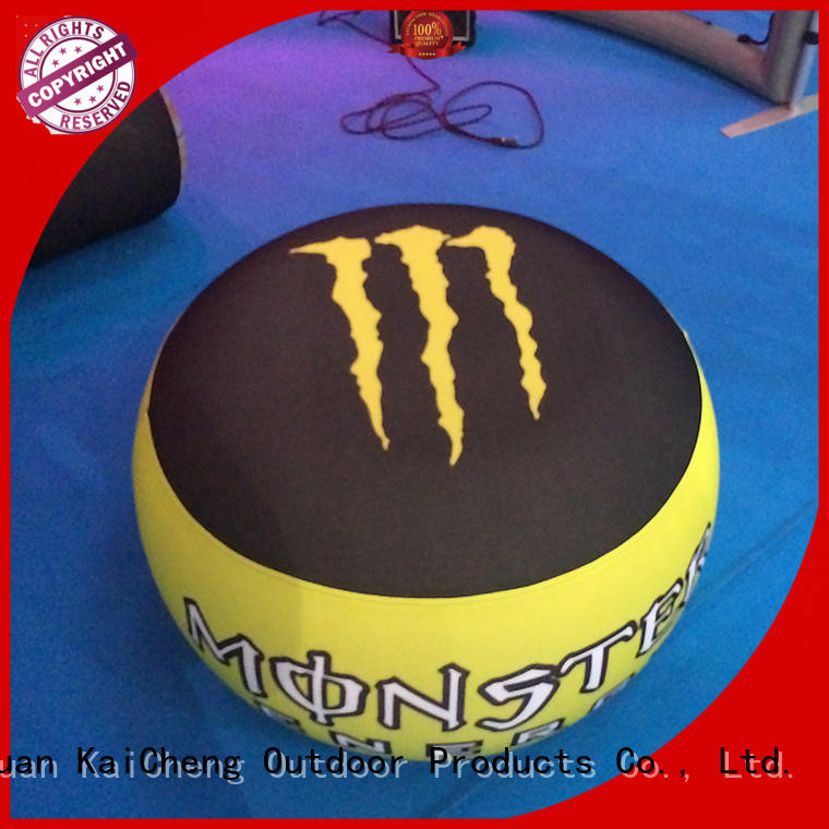 KCCE inflatable ottoman with tpu for outdoor event