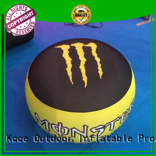 KCCE inflatable ottoman with led light for trade show