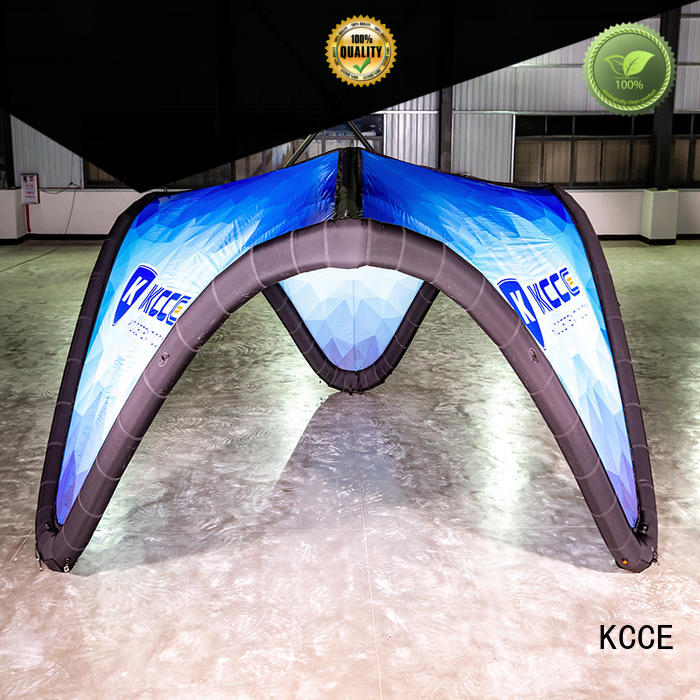 KCCE tpu inflatable canopy with extra printed panels for promotion