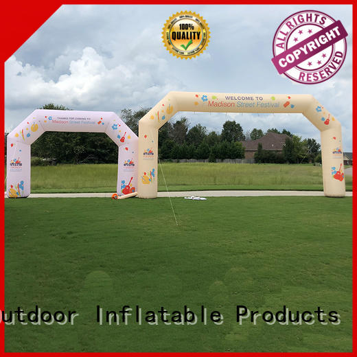 KCCE air tight inflatable start finish line start finish for advertising