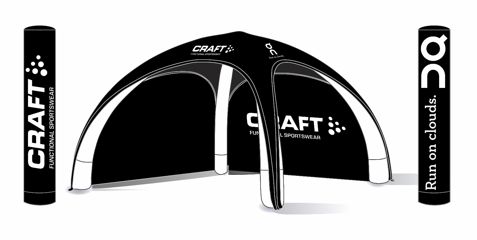 cinch inflatable canopy for busniess for wedding-1