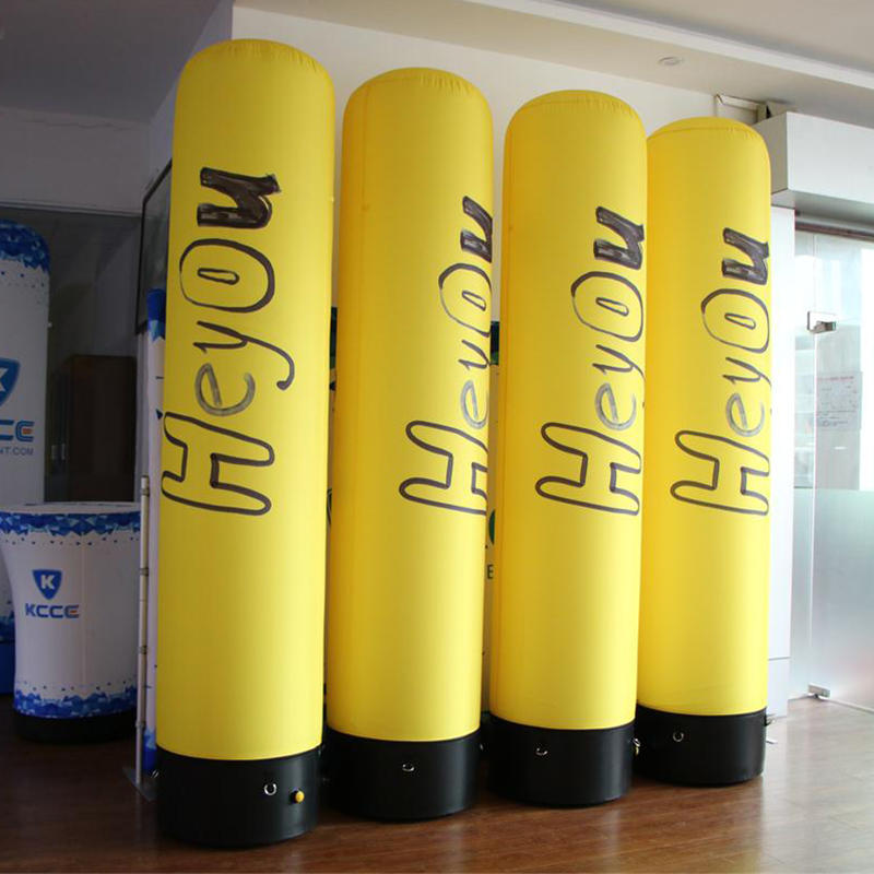 Air tight inflatable tube with LED light