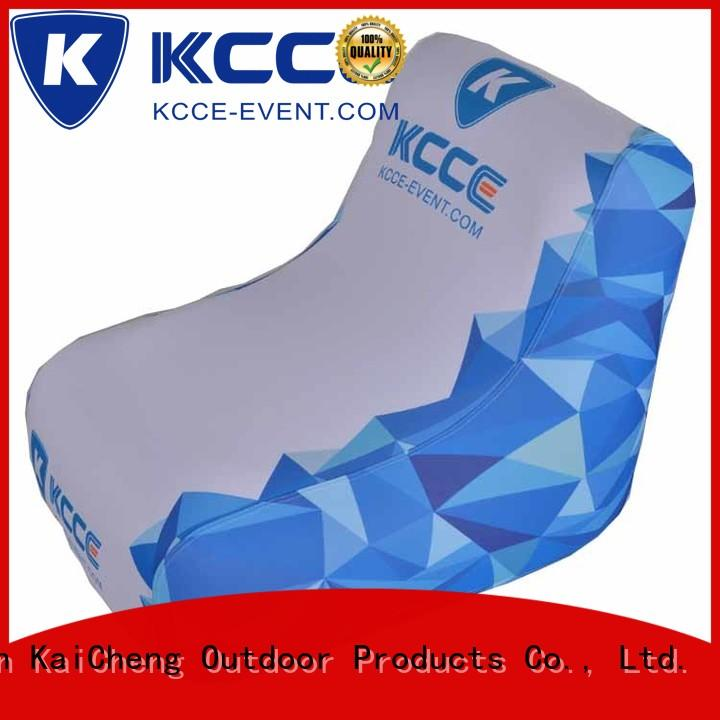 KCCE cheap inflatable chairs company for display