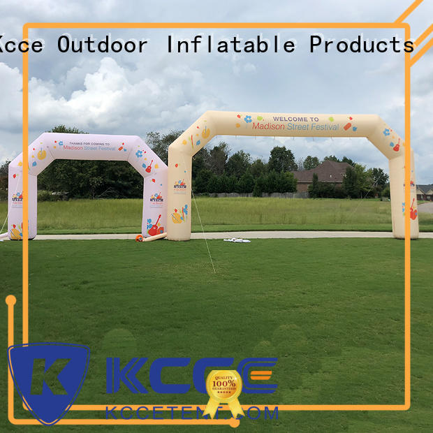 KCCE dacron inflatable finish line colorful for marathon