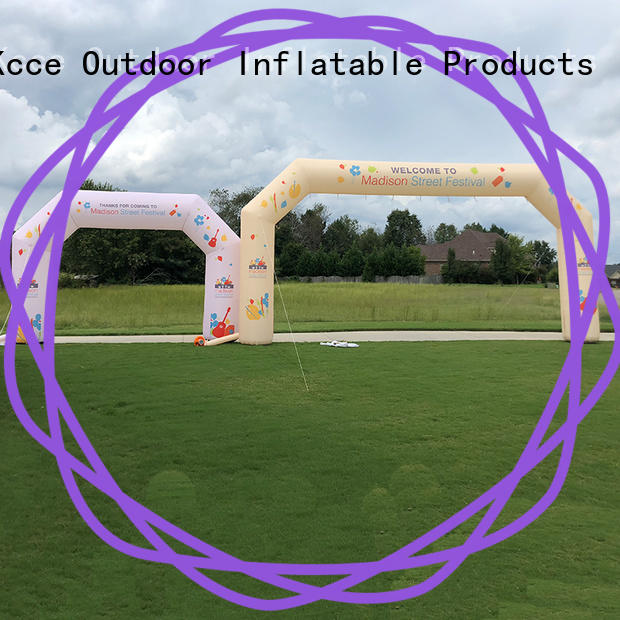 custom inflate gate with four tubes for advertising
