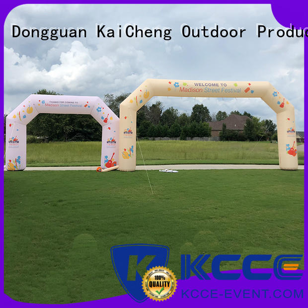 KCCE air tight inflatable display start finish for marathon