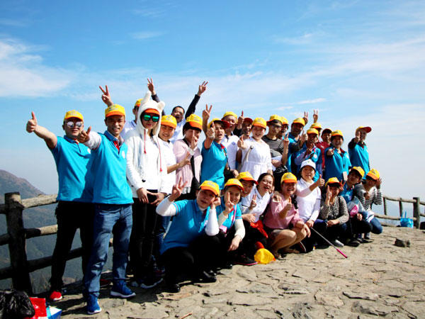 In October 2017, the company held an outdoor activity to climb the highest mountain in dongguan