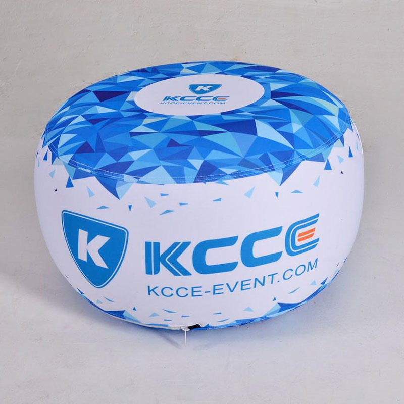 Inflatable ottoman for outdoor events with TPU