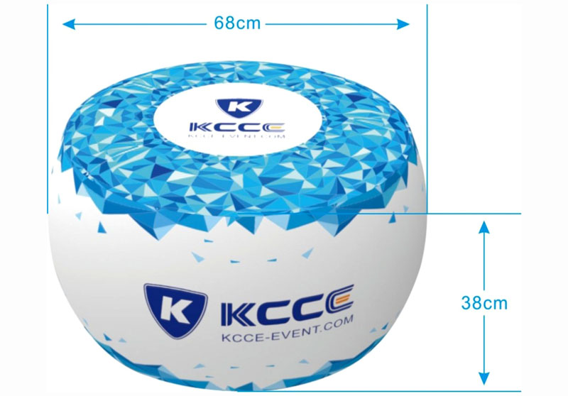 KCCE double layer inflatable ottoman footstool supplier for sale-3