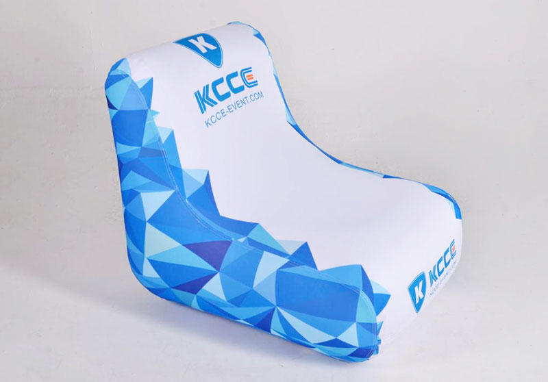 KCCE pvc blow up chair factory for promotion