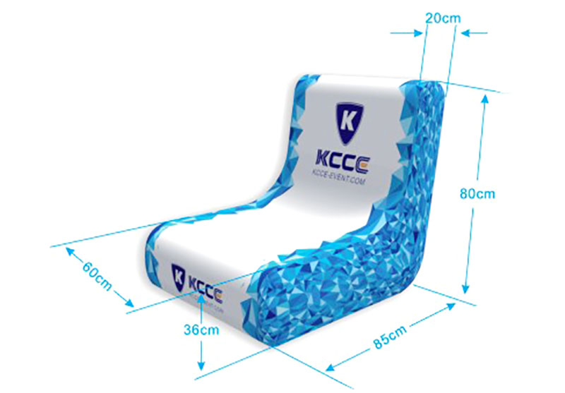 KCCE pvc blow up chair factory for promotion-3