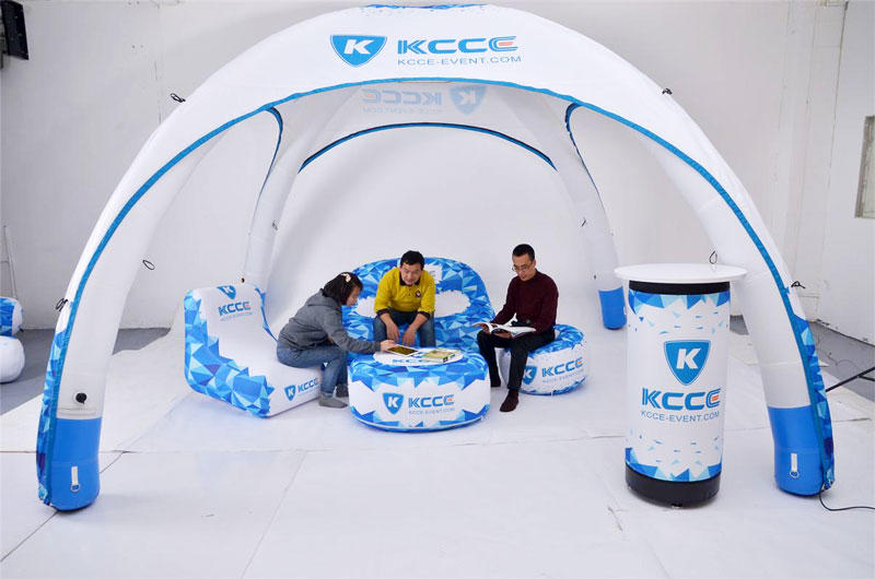 KCCE designed inflatable furniture for sale with led light inside for promotion