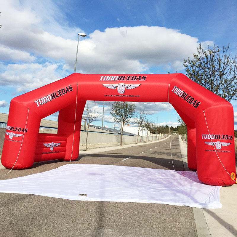 Inflatable double arch wih 4 tubes