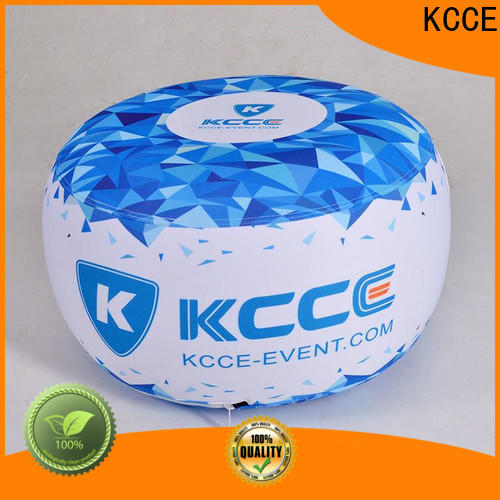 professional inflatable ottoman footstool with led light for outdoor event