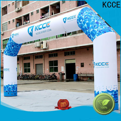KCCE inflatable finish line with four tubes for advertising