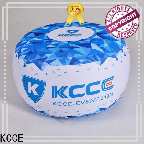 double layer inflatable ottoman footstool with tpu for outdoor event