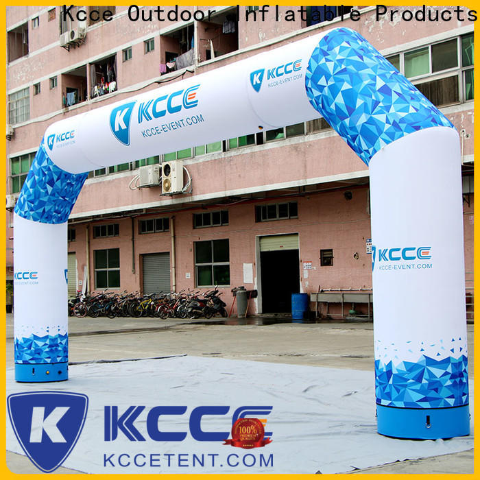 KCCE inflatable start finish line with four tubes for outdoor activities
