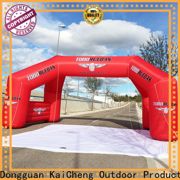 KCCE air tight inflatable start finish line with four tubes for marathon