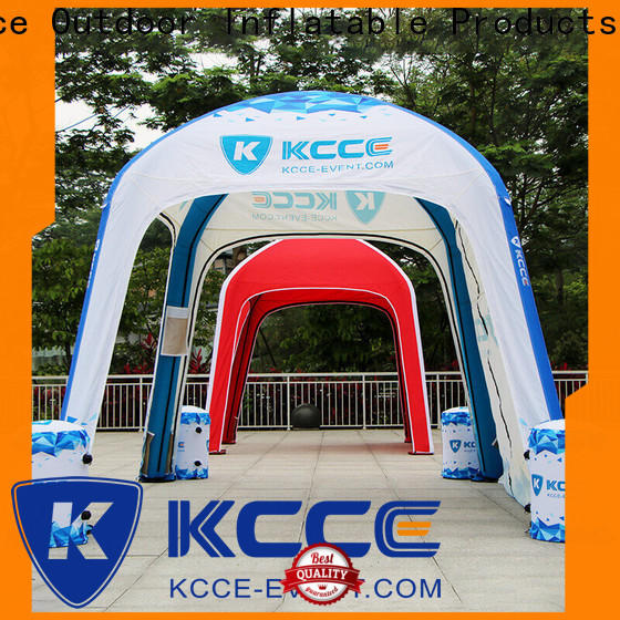 KCCE double layer inflatable event shelter with extra printed panels for promotion