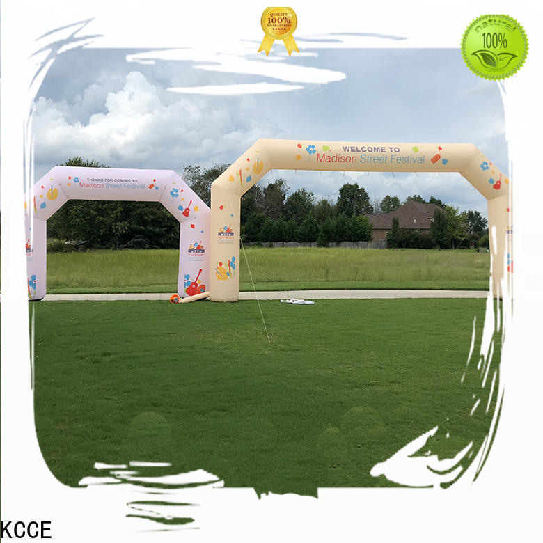 double inflatable start finish line with four tubes for outdoor activities