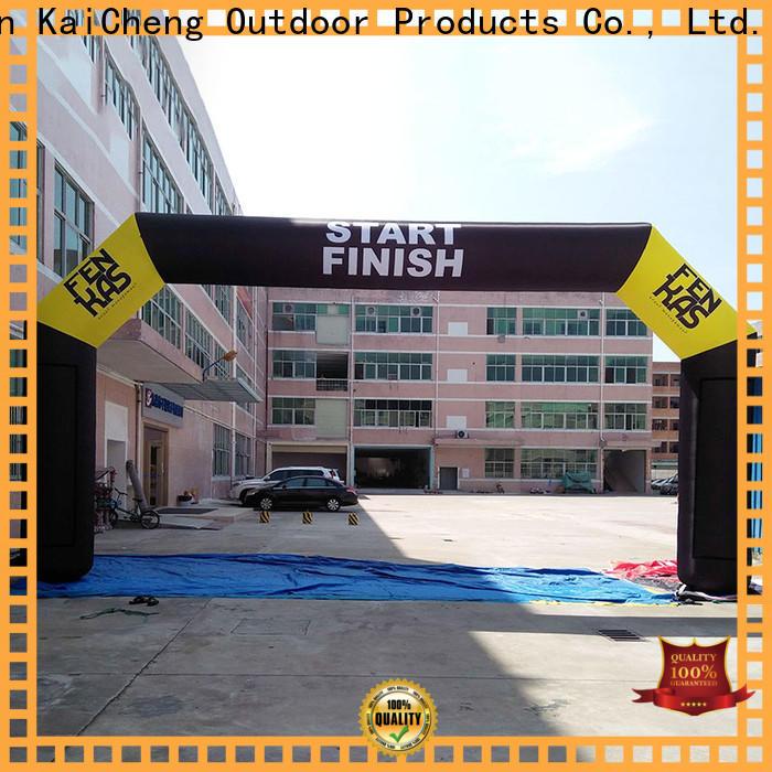 KCCE custom race finish line for busniess for marathon