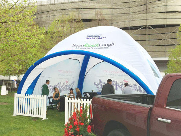 KCCE outdoor inflatable gazebo for sale with extra printed panels-1