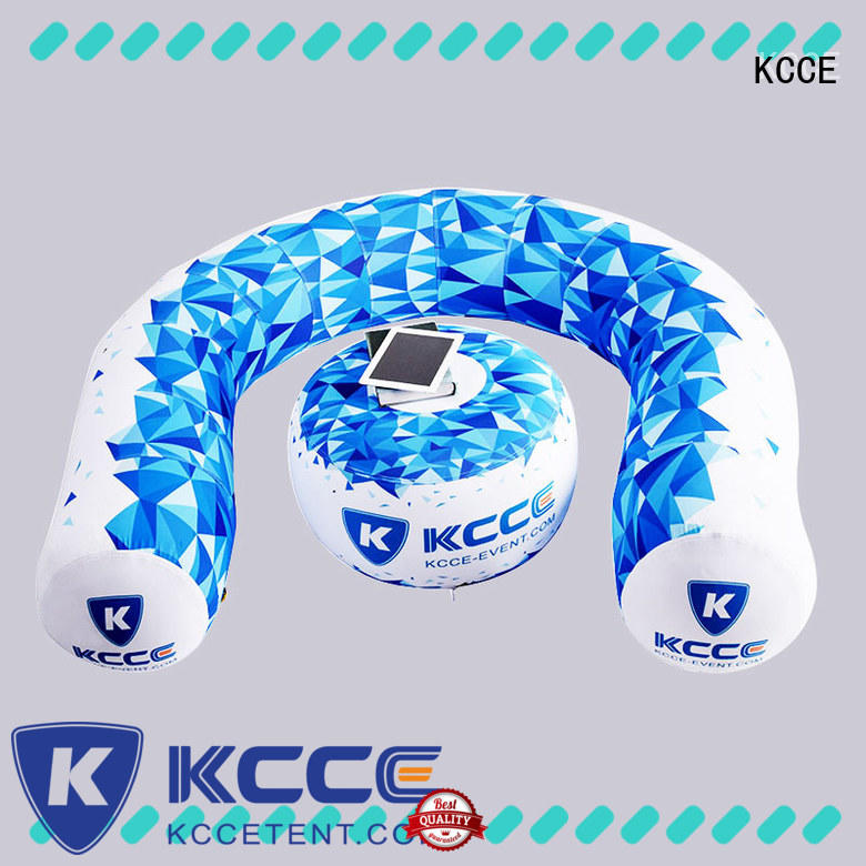 KCCE doughnut inflatable camping seat for trade show