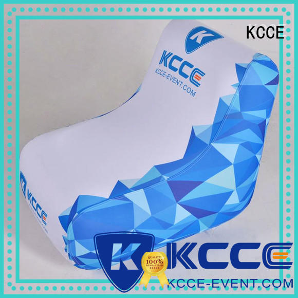KCCE new pvc inflatable chair manufacturer for sport