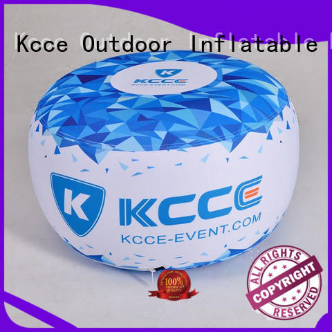 colorful inflatable ottoman footstool with pvc for outdoor event