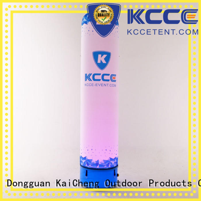 KCCE white inflatable tube with led light for advertising