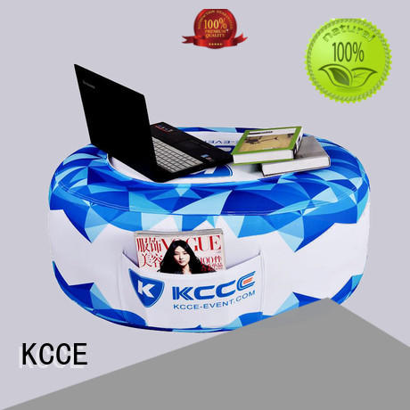 KCCE desk outdoor blow up chair double stitching for sale