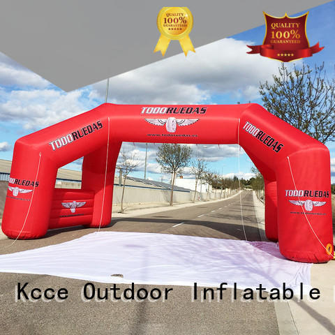 KCCE inflatable start finish line for advertising
