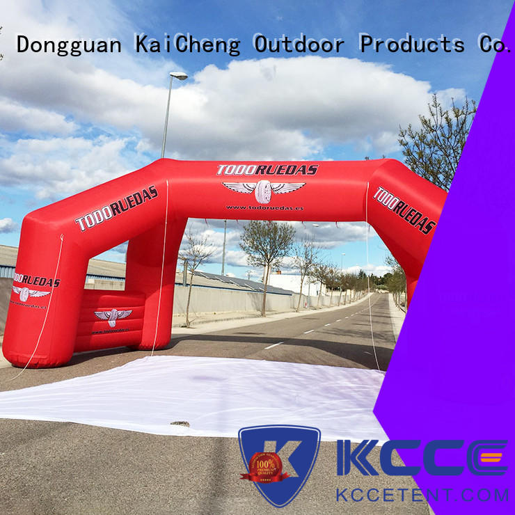 KCCE inflatable display with four tubes for marathon