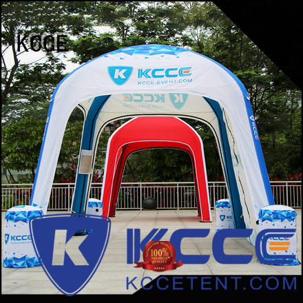 KCCE custom color printed inflatable tailgate tent company for outdoor