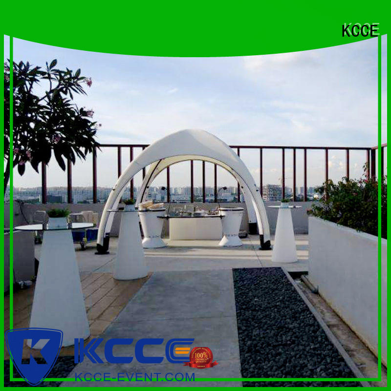 KCCE outdoor inflatable tents with extra printed panels for advertising