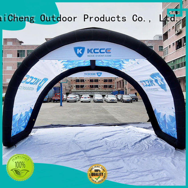 KCCE inflatable shelter with extra printed panels for event