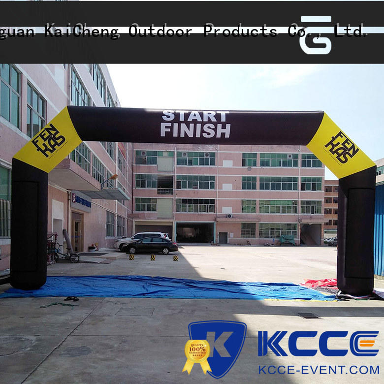 KCCE race finish line manufacturer for marathon