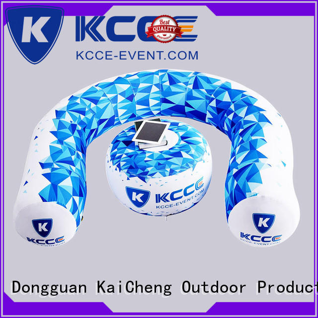 inflatable doughnut with couch for event