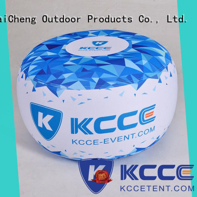 KCCE top inflatable ottoman footstool with tpu for outdoor event