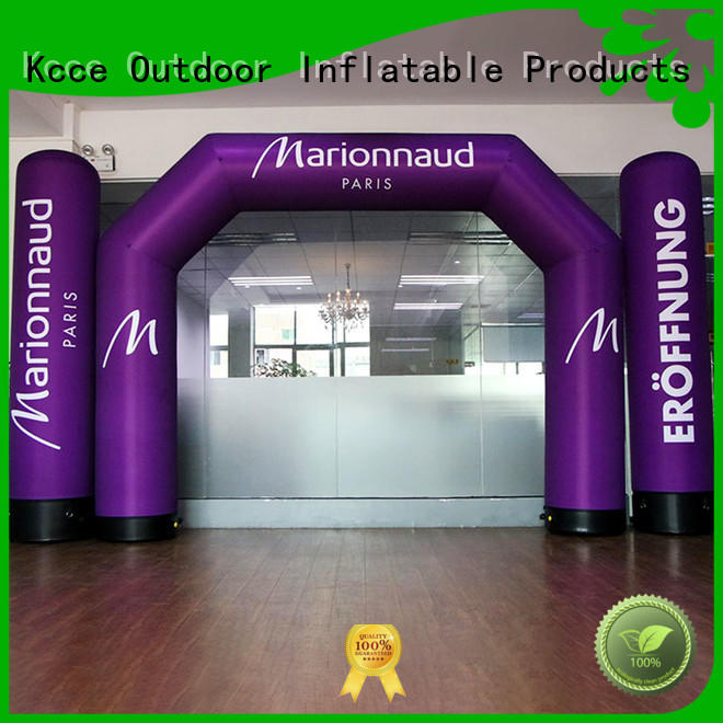 KCCE air tight inflatable start finish line for marathon