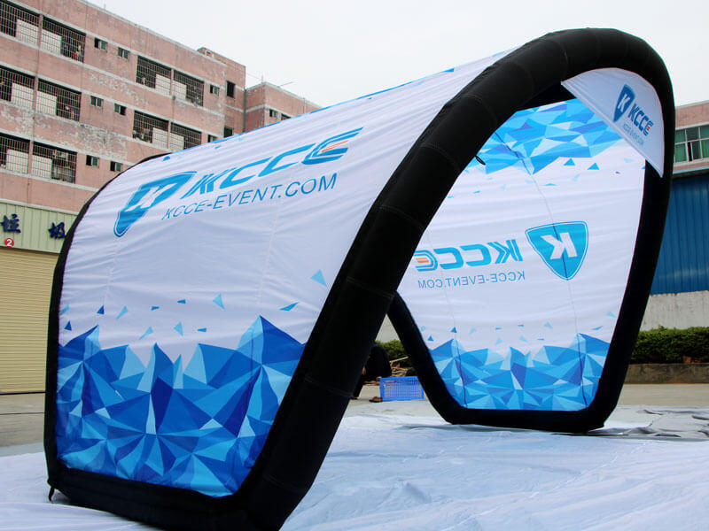 KCCE inflatable shelter with extra printed panels for event-2