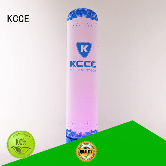KCCE white inflatable products with anchoring rings for advertising
