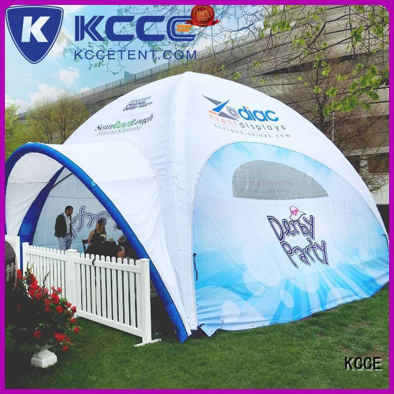 KCCE double layer inflatable gazebo for sale with extra printed panels for promotion